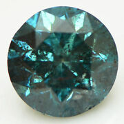 Loose Round Cut Diamond Fancy Blue Color 3.00 Carat Real Enhanced I1 Certified
