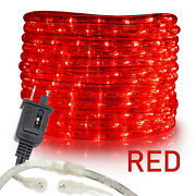 10/25/50/100/150ft Red 1/2 Thick Led Rope Lighting Accent Indoor Outdoor Xmas