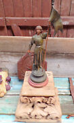 Antique Joan Of Arc French Spelter Statue R46