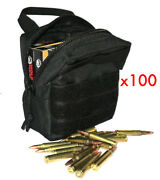 100 Riffle Ammunition Ammo Modular Molle Utility Pouches Front Hook Loop Strap