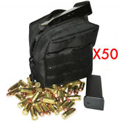 50 .45acp Ammo Modular Molle Utility Pouch Front Hook Loop Strap .45 45