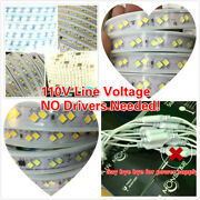 110v Led Strip Light Smd 40402 Flexible For In/outdoor.no Driver/needed