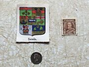 Rare Silver 1890 H Canada Coin F-xf Coat Of Arms 1930andrsquos Stamp King George V 1930