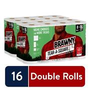 2-pack Of 8 Brawny Tear-a-square Paper Towels, 16 Double Rolls