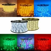 150and039 300and039 Ft Waterproof Led Rope Light 110v Garden In/outdoor Lighting 50and039 100and039