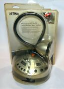 Thermos Deluxe Grill Light W/ Food Timer And Radio New Nip Cordless Portable