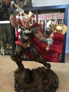 Xm Beta Ray Bill Statue 1/4 Scale Custom Gold Chrome Hammers And Cbcs 8.0 Thor 337