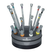 Bergeon 3044-a Rotating Stand With 10 Screwdrivers Brand New Tool