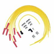 8033 Accel Spark Plug Wires 8.8mm Spiral Wire Universal Angle Boots Yellow