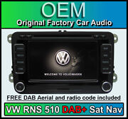 Vw Rns 510 Dab Navigation Golf Mk6 Sat Nav Stereo Dab Radio Cd Player 2019 Maps