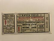 1935 Detroit Tigers World Series Chicago Cubs Ticket Game 1