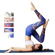Women Yoga Pants Printed Sport Leggings Stretched Fitness Yoga Workout Trousers
