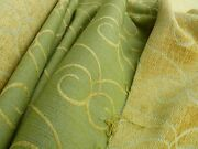 22.2yd Old World Weavers Ayesha Thick Chenille Jacquard Spring Green Msrp296/y