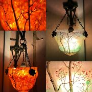 Exceptional Pair Dand039appliques Wall And Legras And Light And Seasons And Glass