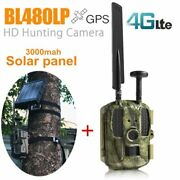 Gps 4g Hunting Camera With Solar Panel Charger 3000mah Wild Solar Battery Hunter