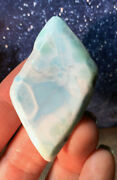 Gorgeous Hand Polished Larimar Dolphin Stone Soulmate Crystal Dominican Republic