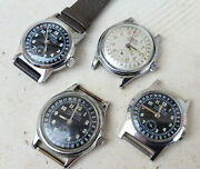 Rare Oris Pointer Calendar Wind Up Steel Watches - Lot Of 4 Watches