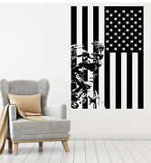 Vinyl Wall Decal Patriotic American Flag Military Soldier Stickers G2527