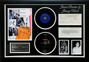 James Brown And Jimmy Velvetautographed Original W-4 Form And Photo Framed Display