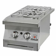 Solaire Built-in Double Side Burner, Natural Gas