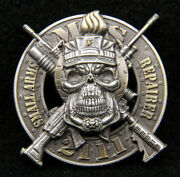 Mos 2111 Small Arms Technician Challenge Coin Us Marines Usmc Pin Up Skull Vet