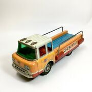 Children's Truck Yonezawa Tin Toy Friction Operated 1960s 15 Inch From Japan