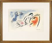 Marc Chagall French Russian ,1887-1985 Original Color Lithograph Print