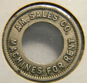 Chicago Illinois A M Sales Machines For Rent Token 0665