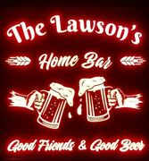 Custom Beer Led Sign Personalized, Home Bar Pub Sign, Lighted Sign