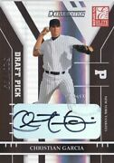 2004 Elite Extra Edition Christian Garcia Yankees/nationals Rookie Auto /799