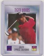 1996 Sports Illustrated For Kids Series 3 Tiger Woods Rookie 536 Rc Goat Rare