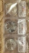 2016 P-s-w 3 Pc Silver Eagle Set Anacs Ms70 Limited Ed. 515 Of 572 Flag Label