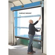 New Spring-loaded Roll-up Screen Door For 8 X 8 Opening-surface Mount-blue