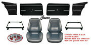 1968 Camaro Touring Ii Fully Assembled Seats And Brackets Rear Cover And Panel Set