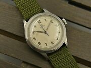 40and039s Ww2 Vintage Watch Mens Omega Military Ref. 2179 /3 Rare Steel 35mm Serviced