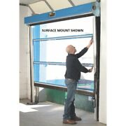 New Spring-loaded Roll-up Screen Door For 9 X 10 Opening-projection Mount Blue