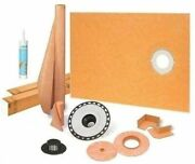 """Schluter Kerdi Shower Kit 38"""" X 60"""" Off With 2"""" Abs Flange,sealant And 4"""" Grate"""