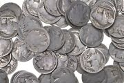 Lot No Date Buffalo Indian Nickels - Collection 5 Rolls 200 Us Coins 1913-1938