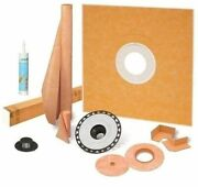 Schluter Kerdi Shower Kit 72andrdquo X 72andrdquo With 2andrdquo Abs Flange Sealant And 4andrdquo Grate