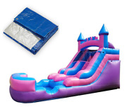 Graduation Party Pack - Pink Premium Inflatable Water Slide With Pool And Blower