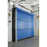 New Motorized Roll-up Screen Door For 8 X 9 Opening Surface Mount - Blue