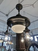 Edwardian Four Light Pan Mount Ceiling Light Re Wired