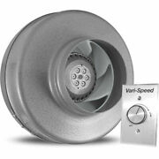 New Vortex Powerfan 5and039and039 In-line Duct Fan 255 Cfm W/vari-speed Speed Control Kit