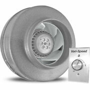New Vortex Powerfan 8and039and039 In-line Duct Fan 651 Cfm W/vari-speed Speed Control Kit
