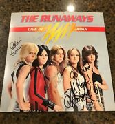 The Runaways Signed Album Live In Japan Jett West Currie And Ford Coa