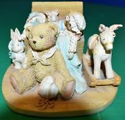 Cherished Teddies 1991 Christopher Figurine - Old Friends Are The Best Friends