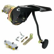 55-59 Chevy Truck Fw 7 Single Brake Pedal Kit Drum/drum3in Blk Pad Parts Front