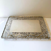 Antique Chinese Sterling Silver Yu Chang Stand/tray/place Mat
