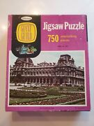Whitman Guild Picture Jigsaw Puzzle The Louvre And Tuilerien Garden Vintage