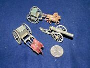 Vintage Lead Toy Artillery Ammo Horse Carts And Cannon Made In France
